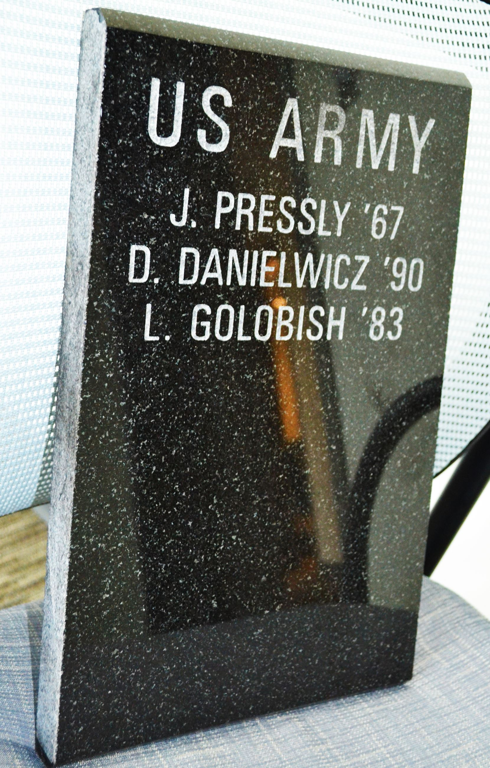 Engraving example for Veterans Memorial