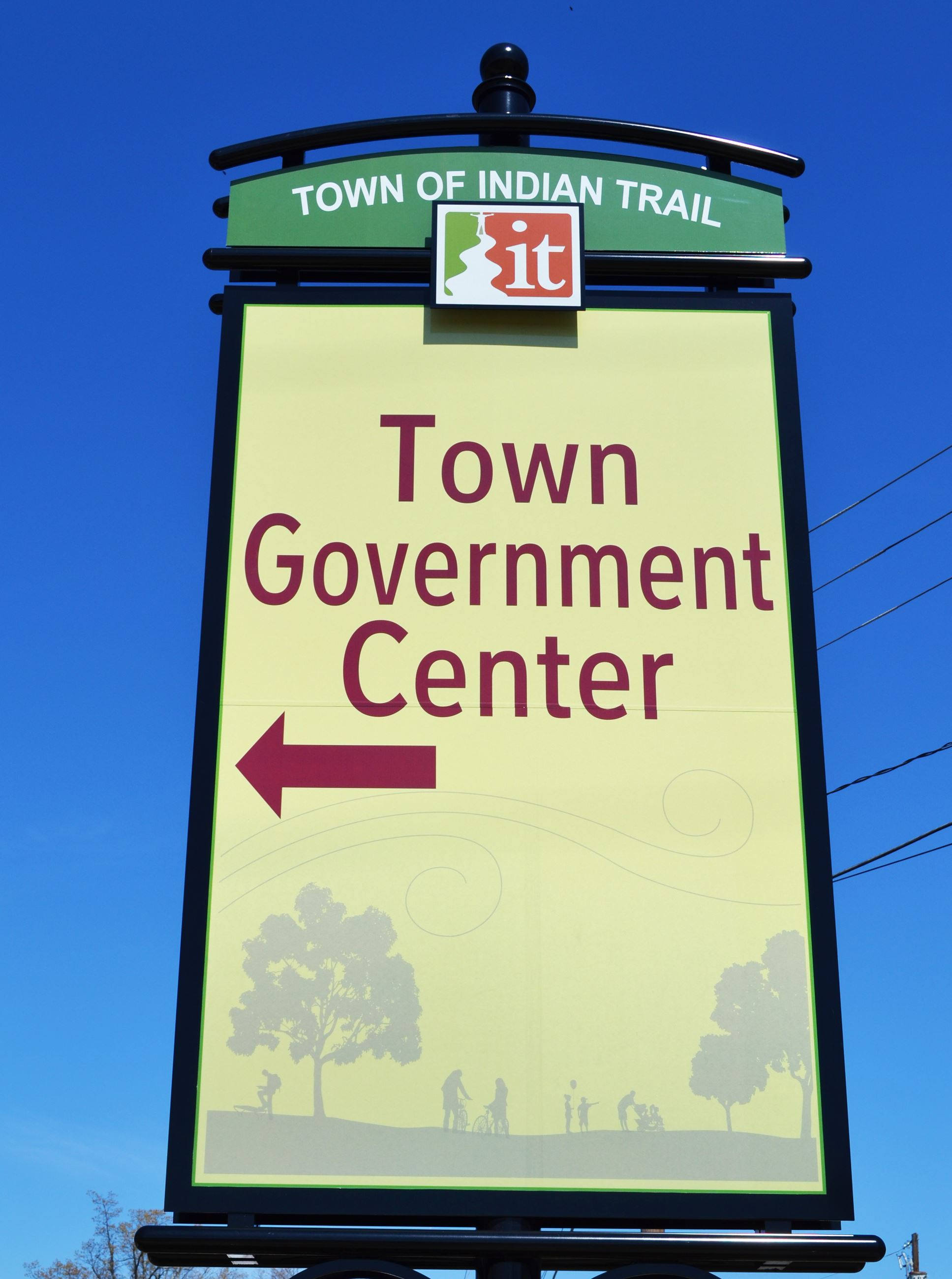 town govermnent sign