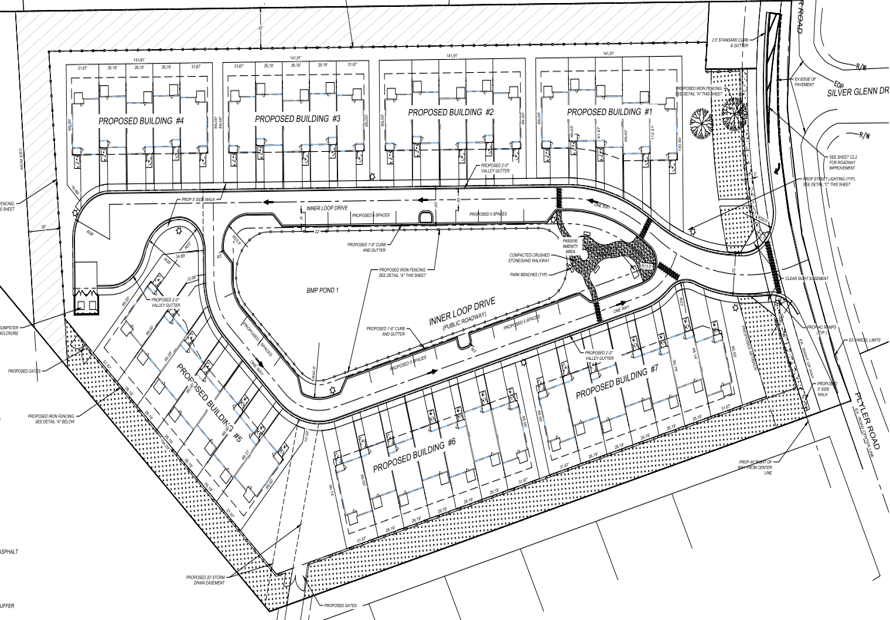 Plyler Road Townhouse Site Plan