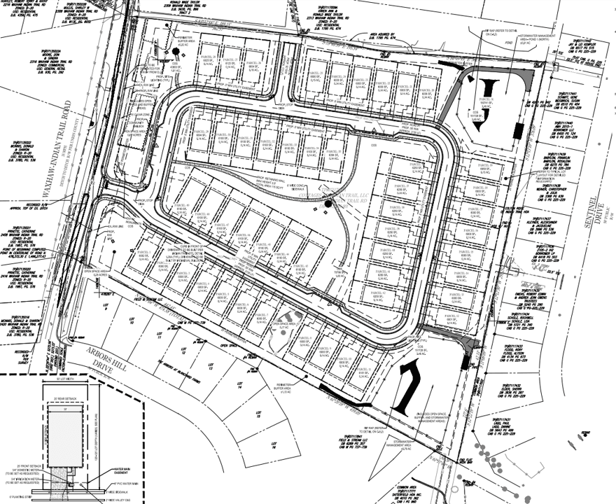 Cottages at Indian Trail Site Plan